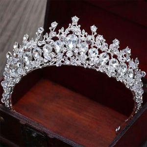 Luxury Design women headwear bride tiara bridal makeup headdress princess baroque crown wedding hair accessories Y200807
