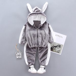 De invierno para niños muchachas de los bebés de ropa Trajes conjuntos de suéter de las tapas + pantalones de algodón Niños Niño Niña Añadir ropa Cashmere