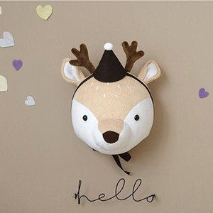 Kinderzimmer Dekoration 3D Tierköpfe Elefant Deer Unicorn Kopf Wandbehang Dekor für Kind-Raum Kinderzimmer Dekoration