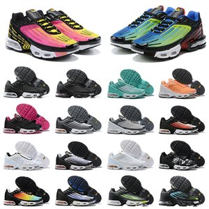ayakkabı nike air max airmax tn plus 3 tuned Sıcak Satış klasik erkek bayan koşu ayakkabıları tn 3 üçlü siyah beyaz lazer mavi gri erkekler spor sneakers koşu eğitmenler