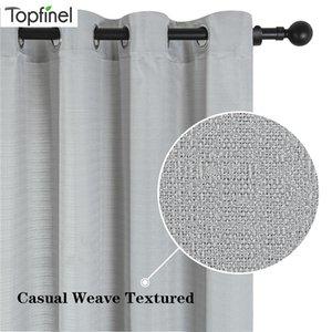Bettwäsche Vorhänge für Wohnzimmer, Schlafzimmer, Fenster Dekoration Linen Weave Textur Behandlungen Weiß Cortina Nordic grau