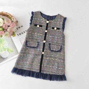 Melario Kızlar Parti Elbise Yeni Sonbahar Kış Moda Ekose Prenses modelleri kısa kollu Çocuk Elbise Kostüm Çocuk Giyim 3 7Y