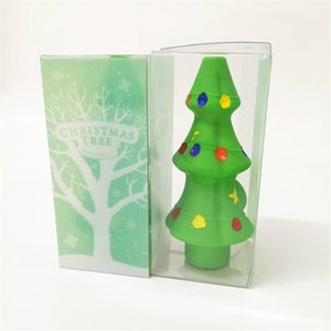 Christmas Tree Smoking Accessories Silicone Hookah Creative Smoke Hand Pipes Oil Burner Tobacco Pipes Cigarette provide