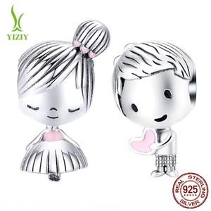 7NwyP Infância namorada s925 prata esterlina moda SCC1334 Infância namorada S925 DIY contas Acessórios grânulos de prata moda em