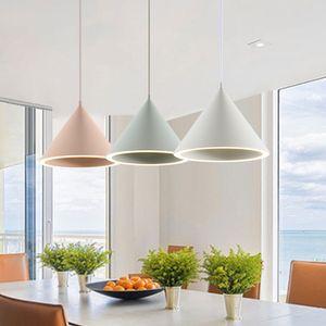 Moderno pendente ha condotto la lampada con paralume in alluminio Per Diningroom Cafe Bar Restaurant Nordic Cono lampada a sospensione Lampadario