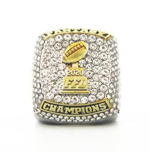 Benutzerdefinierte Meisterschaft Ringe Datum 2020 Fantasie-Fußball-Meister-Ring-Memorial Sports Fans Ringgröße 11