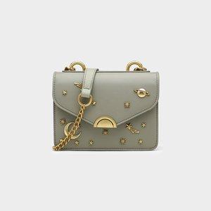 Women's bags, new style bags, women's western style women's bags, trendy texture messenger bag, fashion chain female pu handbag