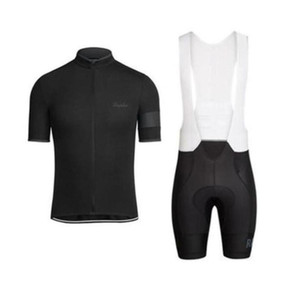Neue Rapha Sommer Herren Kurzarm Radfahren Jersey Fahrrad Tragen Kleidung BIB Set MTB Uniform Pro Cycling Kleidung Fahrrad MAILLOT LZFBOs4