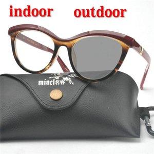 Открытый Фотохромные Солнцезащитные очки Прогрессивные очки для чтения Мода Leopard дамы Multi-очаговый Reading Glasses дальновидные NX