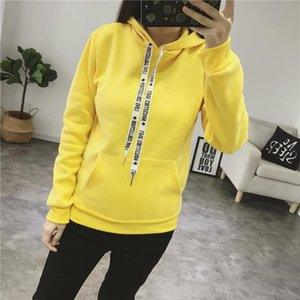 2020 Autumn Women Solid Hoodies Casual Female Hooded Sweatshirts Plus Size XXXL Street Wear Fall Winter Womens Pullovers Pockets