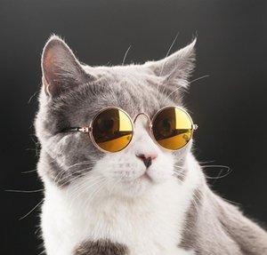 PET SQCUH Venta al por mayor Little Y19061901 Gafas Gafas Gafas de sol Perro Eye-Wear Props 20pcs / lote Supplies Pet Dog Cat Cat Accessories Photo ISQR
