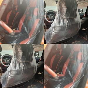 Transparent Auto Stuhl Sleeve Einweg-Kunststoff-Autos Sitze Abdeckungen Reinigen Auto Sitz Sleeves Innenreinigung Produkte 0 29kl G19