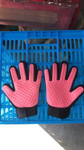 Pet gant de cheveux peigne pour animaux Chien Chat Toilettage Nettoyage Gant deShedding gauche main droite Épilation Brosse favoriser la circulation sanguine bateau libre