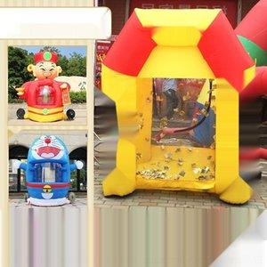 modello a gas gonfiabile dell'aerostato di aria balloonballoon soldi QMpvx gonfiabile Dio della ricchezza afferrare macchina balloonhot cartone animato soldi afferrare machi