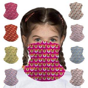 Avatar imprimé animal enfants sans couture Bandana Bandeau Masque Visage Tube écharpe Balaclava Bandeau Foulard multifonctionnel