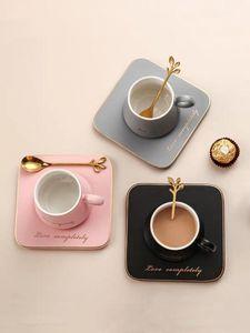 Кофейные чашки керамические чашки блюдце костюм Послеобеденный Кубок Малый кофе с Блюдо Spoon Set