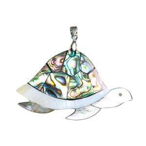 Kaplumbağa Hayvan Kolye Doğal Abalone Shell Kolye Charms Annesi Inci Shell Kolye Takı Bulguları Için Hediyeler H Hediyeler H BBYRJF