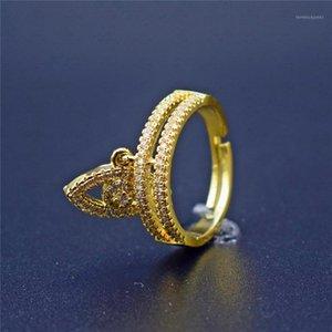 결혼 반지 단일 눈 매수 CZ 링 골드 지르콘 미니멀리스트 얇은 여성용 쥬얼리 1