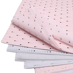 28pcs 50cm*70cm Dot Print Tissue Papers Flower Wrapping Papers Gift Packaging Paper Craft Paper Wine Clothing Wrapping Papers 1019