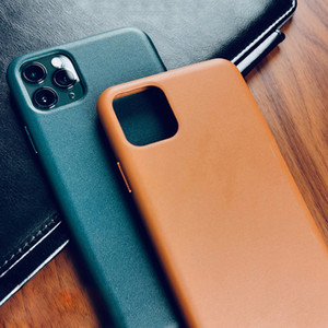 Genuine Phone 11 Pro X XR XS Max Case Official Original Luxury Real Leather Cover for iPhone 7 8 Plus SE