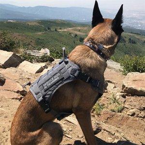 Tactical pet الكلب تسخير k9 عمل الكلب طوق سترة مع مقبض الكلب المقود التدريب الرصاص للكلاب المتوسطة الكبيرة الألمانية الراعي LJ201201