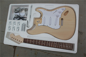 Electric Guitar Real Pictures 6 strings Rosewood Fingerboard No Paint with Chrome Hardware,Basswood Body,offer customize