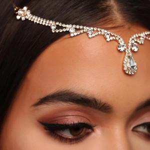 Bohomian Bridal цепочка для волос горный головной горный головной головной головной голов для женщин.