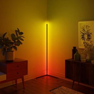 Lampe de plancher de plancher LED moderne lumières lumineuses lumineuses lumières colorées salon salle de séjour décoration lumineux debout