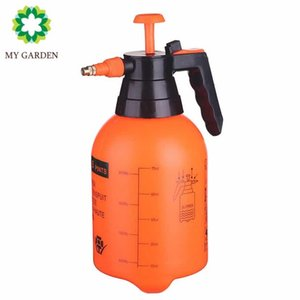 MY GARDEN Plastic Watering Can, Water Spray Bottle with Adjustable Pressure Nozzle for Plants and Cleaning Work, 1 2-Gallon (Orange White B