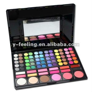 Free shipping Professional 78 Color Make Up Set Box Eyeshadow & Lip Gloss & Blush Cosplay Sst 78-03#
