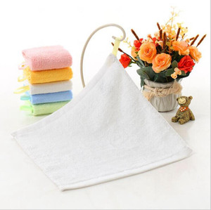 Kindergarten cara toalla cuadrada limpiando manos liso de fibra de bambú pequeño pequeño kindergarten limpiar la cara toallas de mano 25 * 25cm EWE2044