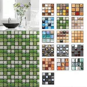 10pcs Kitchen Wall Tile Stickers Waterproof Self Adhesive 3D Mosaic Sticker PVC Decal Home Decor Accessories
