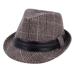 Cross-Border New Arrival Fall Winter Men Fedora Hat Wholesale British Vintage Gentlemens Hat All-Matching Woolen Billycock Children