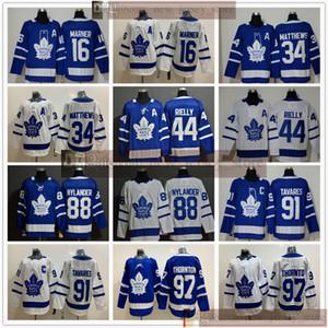 Toronto Maple Leafs Eishockey 97 Joe Thornton Jerseys John Auston Tavares Matthews Mitchell Marner Morgan Rielly William Nylander Man Frauen KID