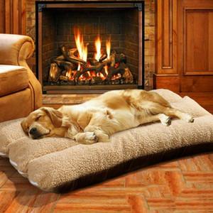 Толстые Pet кровати для собак моющийся Soft Medium Large Big Dog Bed дом Съемный Зимний Теплый Маленький щенок Lounger роскошь
