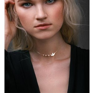 Personality Choker Design Simple And Peace Ahmed Necklace Imitation Pigeon Pearls Fashion Women European American New Jewelry tsetROl