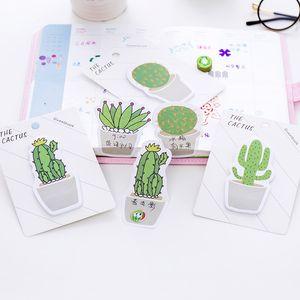 Sevimli Cactus Memo Pad Yapışkan Not Sticker Memo Kitap Not kağıdı N Çıkartma Kırtasiye Ofis Aksesuarları Okul DHF2638 Malzemeleri