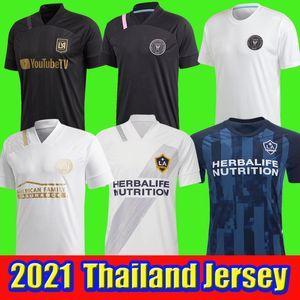 2020 2021 LAFC Carlos Vela de Futebol 2021 Los Angeles FC Inter Miami Beckham Preto LA Galaxy Chicharito Atlanta United camisas de futebol