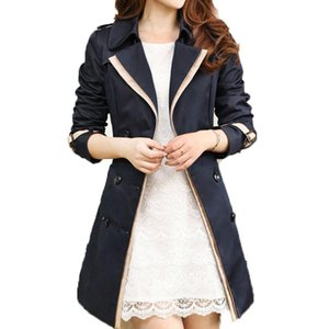 2020 Spring Outerwear New Female Clothing Jacket Solid Casual Female coat Turn-down Collar Up Autumn Winter Overcoat With Belt