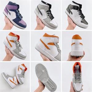 2020 UNC High OG 1s Youth Children's Basketball Shoes Travis Scotts Cactus University Blue Freshman Running Boys Girls Sports Shoes