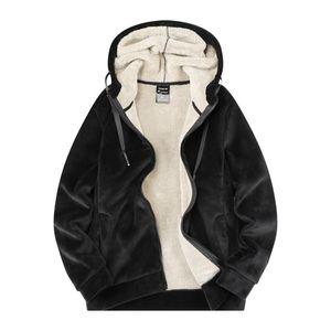 MANTLCONX Негабаритные 7XL 8XL зима флис Теплая куртка с капюшоном Мужчины Windbreak сгущает куртки пальто Мужчины Верхняя одежда Мода Повседневная ветровки
