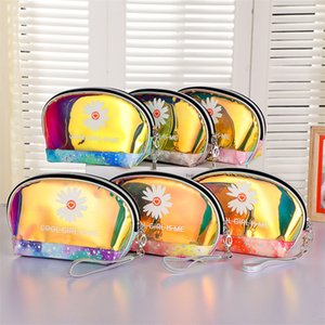 2021 10pcs Cosmetic Bag Women Makeup Case TPU Transparent Beauty Organizer Pouch Female Jelly Bag Lady shimming bag