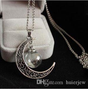 Bonitos encantos da moda colar colares Bola de vidro longa tira de couro cadeia de colar de pingente Dandelion