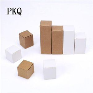 50pcs Retro Kraft Paper gift Box for Jewelry DIY Wedding Favor candy Box Small soap Package Packing paper white carton