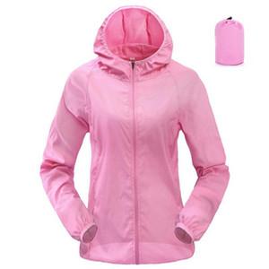 HEFLASHOR Women Men Outdoor Sports Windproof Quick Dry Skin Running Jacket Candy Color Ultra-thin Sunshade Rainproof coat Top