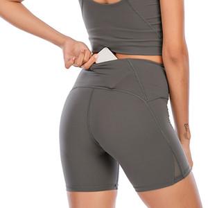 LU VFU Kadınlar Tayt Yoga Kıyafet Uyluk Tasarımcı Bayan Egzersiz Spor Giymek Katı Spor Elastik Fitness Lady Hizala SHR Kısa Pantolon 2021 #