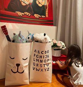 Schwerkraftpapier-Beutel-Kind-Raum-Organisator-Beutel Papieraufbewahrungstasche für Spielzeug und Baby-Clothings