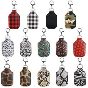 Sanitizer Keychains Sports Printed Hand Sanitizer Bottle Cover Bags Soap Chapstick Holder Fashion Accessories Party Gift GWB2583