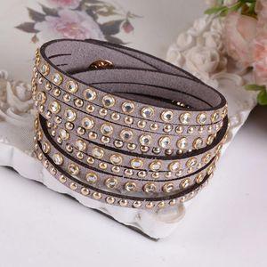 Charm Bracelet For Women Fashion Wrap Multilayer Crystal Bracelet
