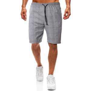 Men Beach Casual Shorts Plaid Sweat Compression Male Dress Cargo Trousers Shorts Fashion Camouflage Boardshorts Brand Clothing
